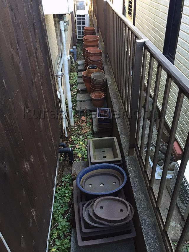 大量の植木鉢