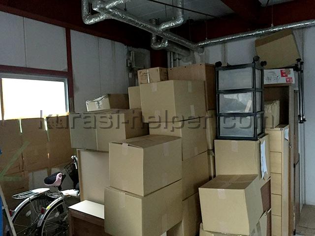 建築会社の倉庫に保管されていた荷物