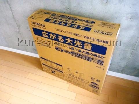 購入時の箱に収めた家電製品