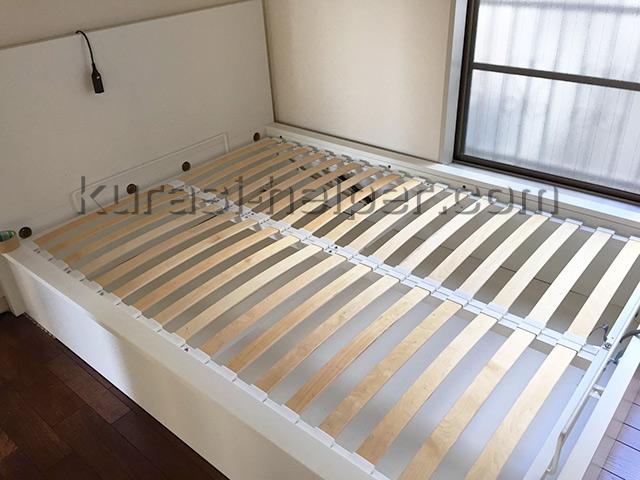 IKEAのベッドを組み立て