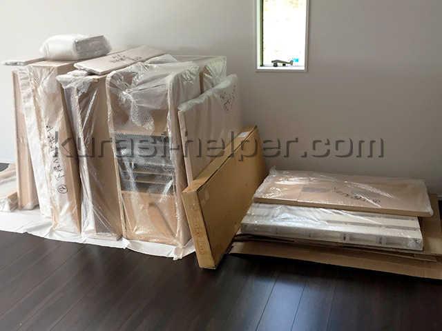 新築一戸建て向けに組み立てる家具