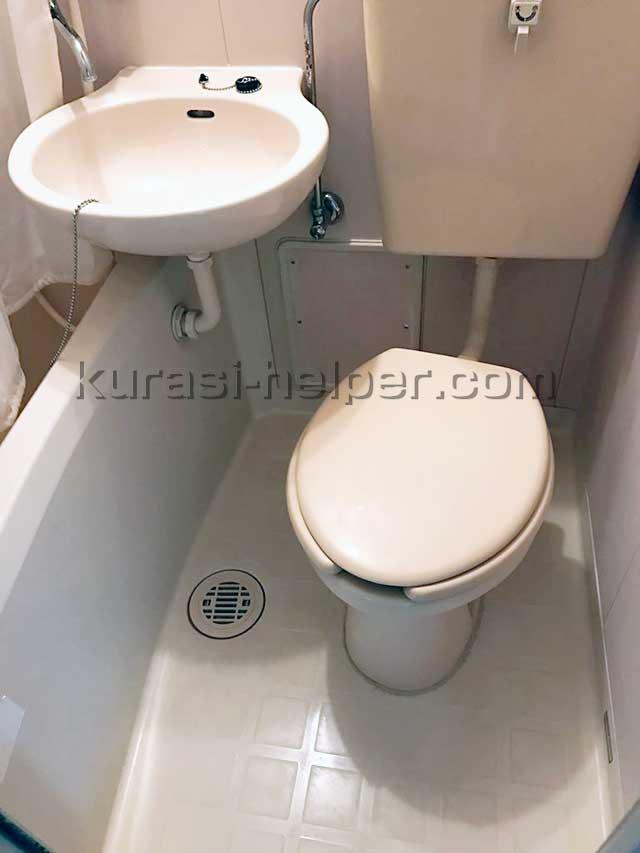 引越し後すぐにきれいにしたバストイレ