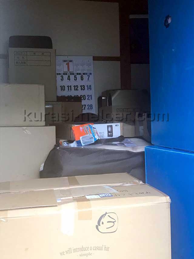 空き室を利用して荷物を一時保管