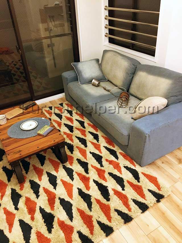 リビングルームのソファー、テーブル等