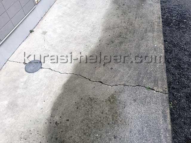 コンクリートのひび割れ