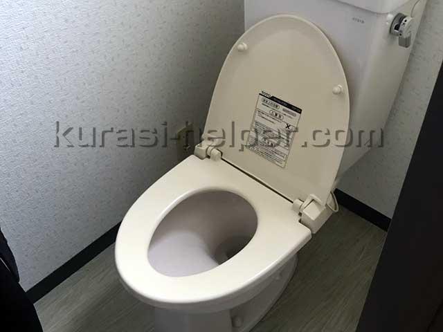 アパート空き室のトイレをチェック
