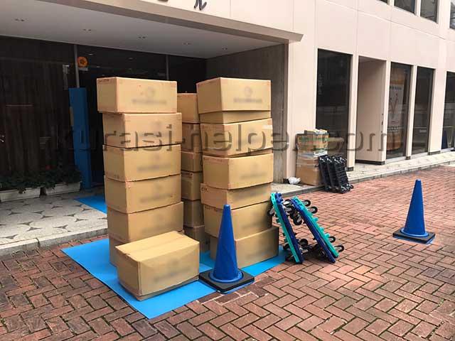 オフィス引越しでダンボール箱を大量に運搬