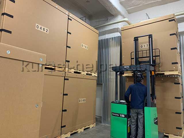 温度湿度が管理された倉庫で荷物を一時保管